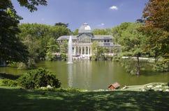 Παλάτι κρυστάλλου της Μαδρίτης Στοκ φωτογραφία με δικαίωμα ελεύθερης χρήσης