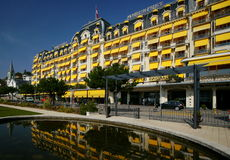 παλάτι ξενοδοχείων montreux Στοκ φωτογραφία με δικαίωμα ελεύθερης χρήσης