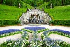 παλάτι πηγών linderhof Στοκ Φωτογραφία