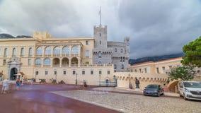Παλάτι πριγκήπων ` s του Μονακό timelapse hyperlapse - είναι η επίσημη κατοικία του πρίγκηπα του Μονακό φιλμ μικρού μήκους