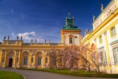 παλάτι πυλών wilanow Στοκ Φωτογραφία