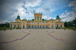 Παλάτι σε Wilanow, Πολωνία Στοκ εικόνα με δικαίωμα ελεύθερης χρήσης