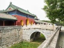Παλάτι της εισόδου αποχής στο ναό του ουρανού, Πεκίνο, Κίνα στοκ εικόνα