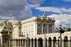 παλάτι της Μαδρίτης βασιλ&i Στοκ φωτογραφία με δικαίωμα ελεύθερης χρήσης