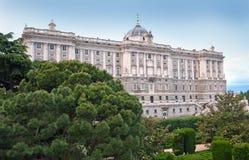 παλάτι της Μαδρίτης βασιλ&i Στοκ Φωτογραφίες