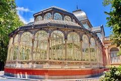 παλάτι της Μαδρίτης κρυστά&l Στοκ Εικόνα