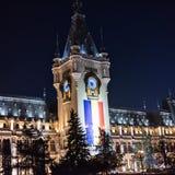 Παλάτι του πολιτισμού σε Iasi Ρουμανία το χειμώνα στοκ εικόνες
