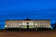 παλάτι του Όσλο βασιλικό Στοκ Φωτογραφία