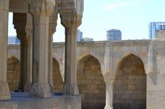 Παλάτι του Shirvanshahs στην παλαιά πόλη του Μπακού, πρωτεύουσα του Αζερμπαϊτζάν στοκ εικόνες με δικαίωμα ελεύθερης χρήσης