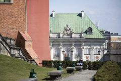Παλάτι χαλκός-στεγών ή κασσίτερος-Roofed παλάτι, τετραγωνική, παλαιά πόλη του Castle, το πρώτο παλάτι στη Βαρσοβία με μια στέγη κ Στοκ φωτογραφία με δικαίωμα ελεύθερης χρήσης