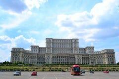 Παλάτι όψης του Βουκουρεστι'ου του Κοινοβουλίου Στοκ φωτογραφία με δικαίωμα ελεύθερης χρήσης