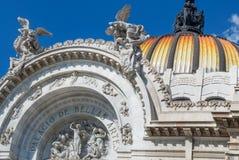 Παλάτι Artes Bellas των Καλών Τεχνών στην Πόλη του Μεξικού Στοκ Εικόνες