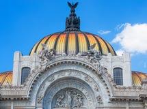Παλάτι Artes Bellas των Καλών Τεχνών στην Πόλη του Μεξικού Στοκ Φωτογραφία