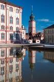 Παλάτι Bruchsal και πύργος εκκλησιών, Γερμανία Στοκ φωτογραφίες με δικαίωμα ελεύθερης χρήσης