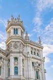 Παλάτι Cibeles, Μαδρίτη, Ισπανία Στοκ Εικόνες