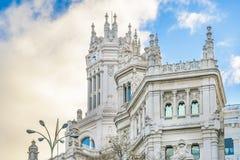 Παλάτι Cibeles, Μαδρίτη, Ισπανία Στοκ φωτογραφίες με δικαίωμα ελεύθερης χρήσης