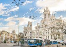 Παλάτι Cibeles, Μαδρίτη, Ισπανία Στοκ εικόνα με δικαίωμα ελεύθερης χρήσης