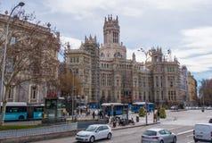 Παλάτι Cibeles στη Μαδρίτη κάτω από την κατασκευή Στοκ εικόνα με δικαίωμα ελεύθερης χρήσης