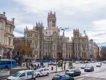 Παλάτι Cibeles στη Μαδρίτη κάτω από την κατασκευή Στοκ Εικόνα