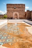 Παλάτι EL Badi, Μαρακές, Marocco στοκ εικόνες