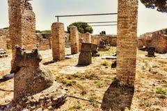 Παλάτι Molini με millstones λάβας - Ostia Antica - Ρώμη Στοκ φωτογραφία με δικαίωμα ελεύθερης χρήσης