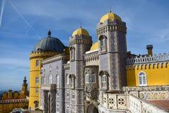 Παλάτι Pena, Sintra μια ηλιόλουστη ημέρα στοκ φωτογραφία