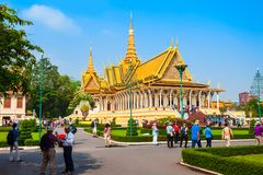 παλάτι penh phnom βασιλικό στοκ φωτογραφία με δικαίωμα ελεύθερης χρήσης