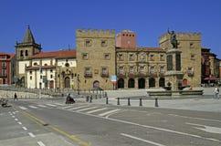 Παλάτι Revillagigedo Plaza del Marques Gijon, Ισπανία στοκ εικόνες