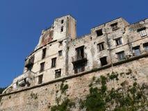 Παλέρμο, Σικελία, Ιταλία 11/04/2010 Υποβιβασμένο και ακατοίκητο hou στοκ φωτογραφίες