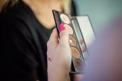 Παλέτα εκμετάλλευσης καλλιτεχνών Makeup Στοκ Εικόνα