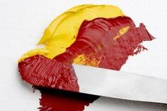 παλέτα ζωγραφικής μαχαιρ&io Στοκ Εικόνες