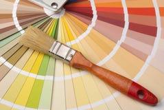 παλέτα χρώματος βουρτσών Στοκ εικόνες με δικαίωμα ελεύθερης χρήσης