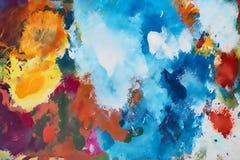 Παλέτα χρώματος ζωγραφικής καλλιτεχνών Στοκ εικόνες με δικαίωμα ελεύθερης χρήσης