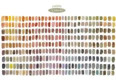 Παλέτα Watercolor με τα χρωματισμένα ορθογώνια διανυσματική απεικόνιση