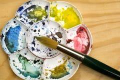Παλέτα Watercolour Στοκ φωτογραφία με δικαίωμα ελεύθερης χρήσης