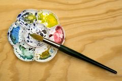 Παλέτα Watercolour Στοκ Φωτογραφία