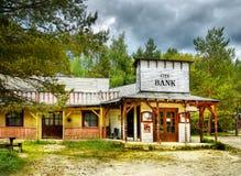 Παλαιά άγρια πόλης αίθουσα δυτικών κάουμποϋ, Αμερική Στοκ Εικόνες