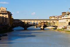 Παλαιά άποψη γεφυρών, Φλωρεντία, Ιταλία στοκ φωτογραφίες