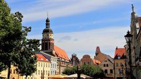 Παλαιά άποψη πόλεων κωμοπόλεων κτηρίου παλαιά Cottbus Γερμανία Στοκ εικόνα με δικαίωμα ελεύθερης χρήσης