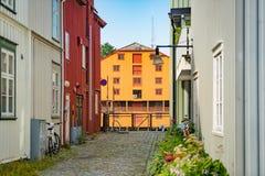 Παλαιά άποψη πόλεων του Τρόντχαιμ Νορβηγία, Σκανδιναβία, Ευρώπη Στοκ Εικόνα