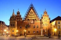 Παλαιά αίθουσα πόλεων στο wroclaw στοκ εικόνα