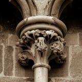 Παλαιά αγγλική γοτθική στήλη κύριο Α Στοκ φωτογραφία με δικαίωμα ελεύθερης χρήσης
