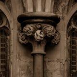 Παλαιά αγγλική γοτθική στήλη κύριο Β Στοκ Εικόνες