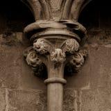 Παλαιά αγγλική γοτθική στήλη κύριο Γ Στοκ εικόνα με δικαίωμα ελεύθερης χρήσης