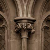 Παλαιά αγγλική γοτθική στήλη κύριο Δ Στοκ Εικόνα