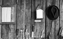Παλαιά αγροτική ξύλινη φραγή Στοκ φωτογραφίες με δικαίωμα ελεύθερης χρήσης