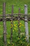 Παλαιά αγροτική φραγή Στοκ Φωτογραφία