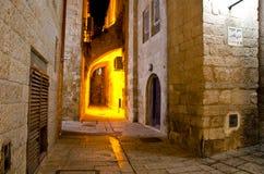 Παλαιά αλέα πόλεων της Ιερουσαλήμ Στοκ Εικόνα