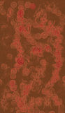 παλαιά ασιατική ταπετσαρ Στοκ εικόνα με δικαίωμα ελεύθερης χρήσης