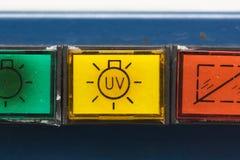 παλαιά ασφάλεια γραφείων κουμπιών Στοκ Εικόνα